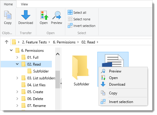 Browse Files with Access Control